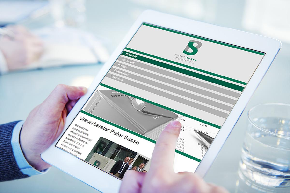 Steuerberater Sasse - Responsive Homepage