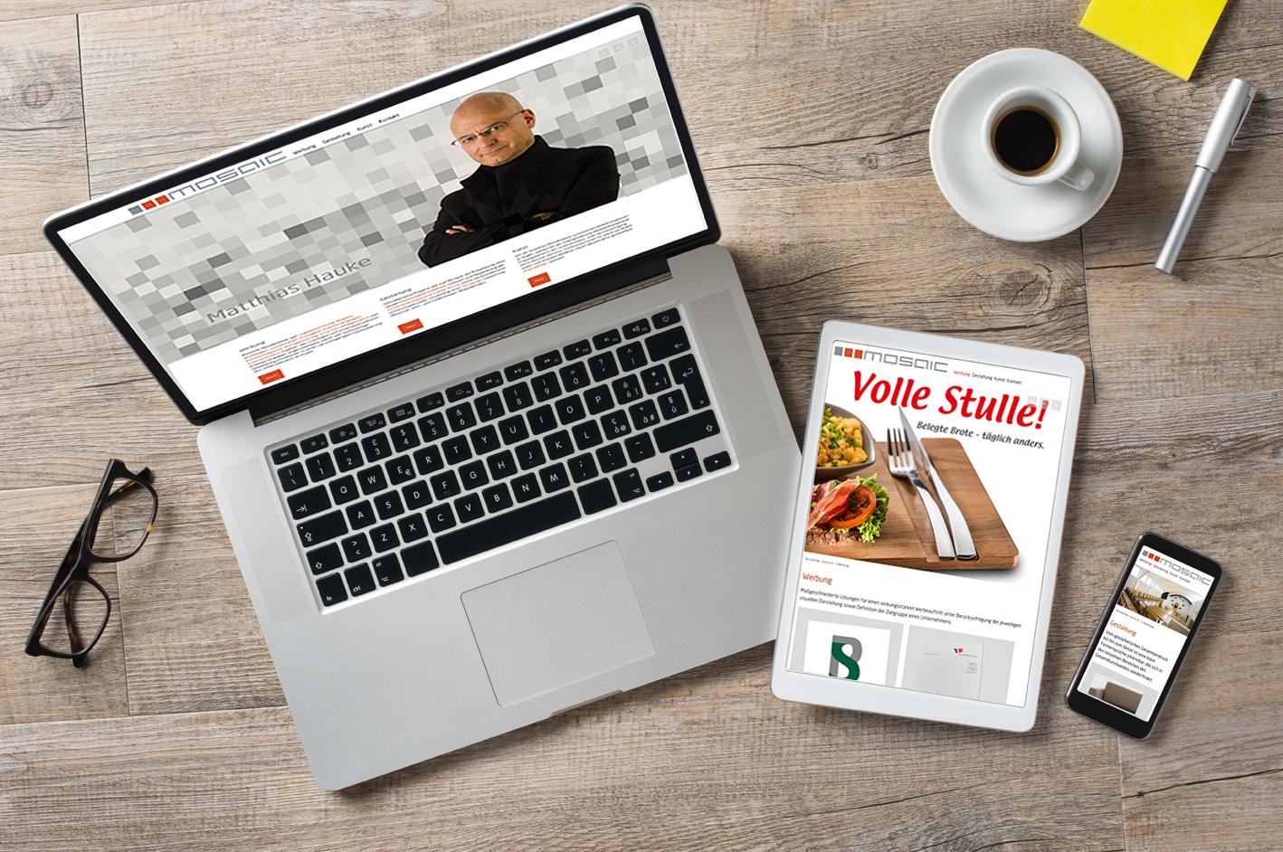 Werbeagentur mosaic - Internetauftritt