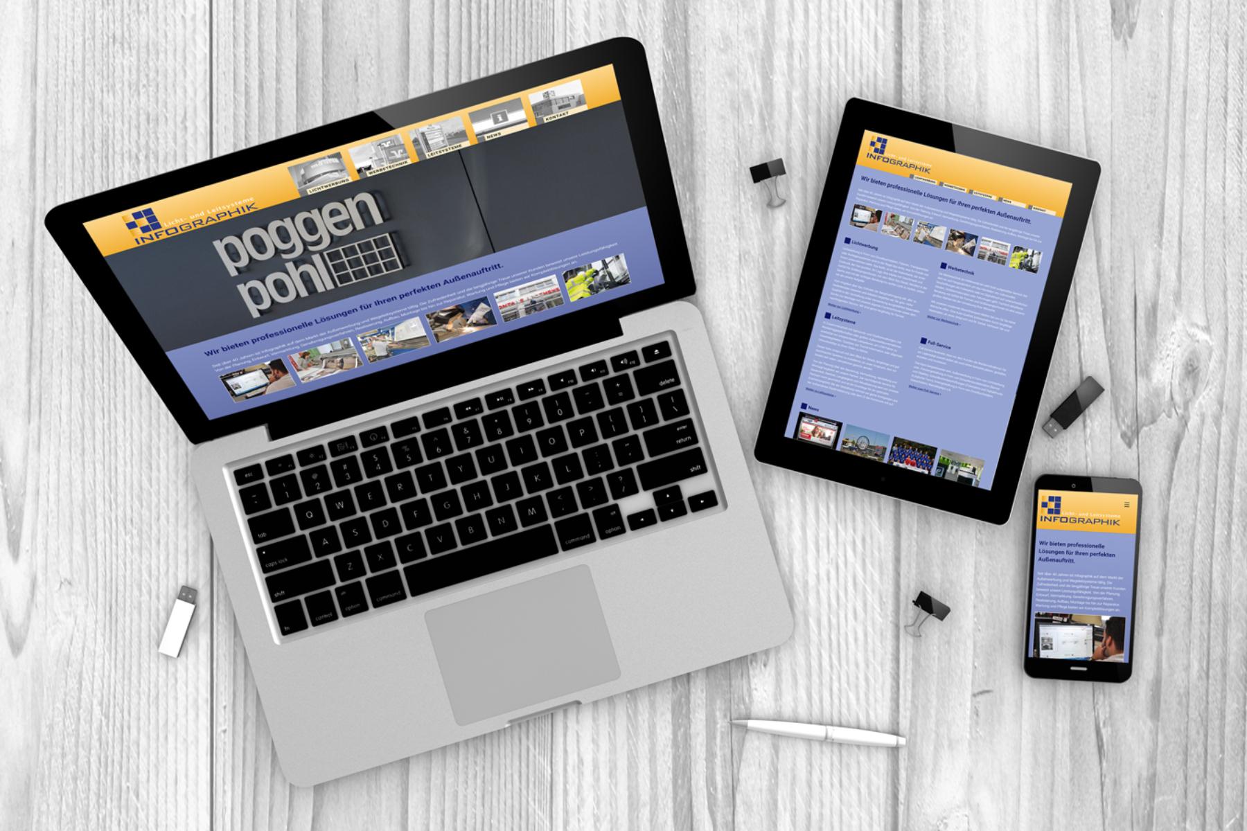 Infographik - Webseite