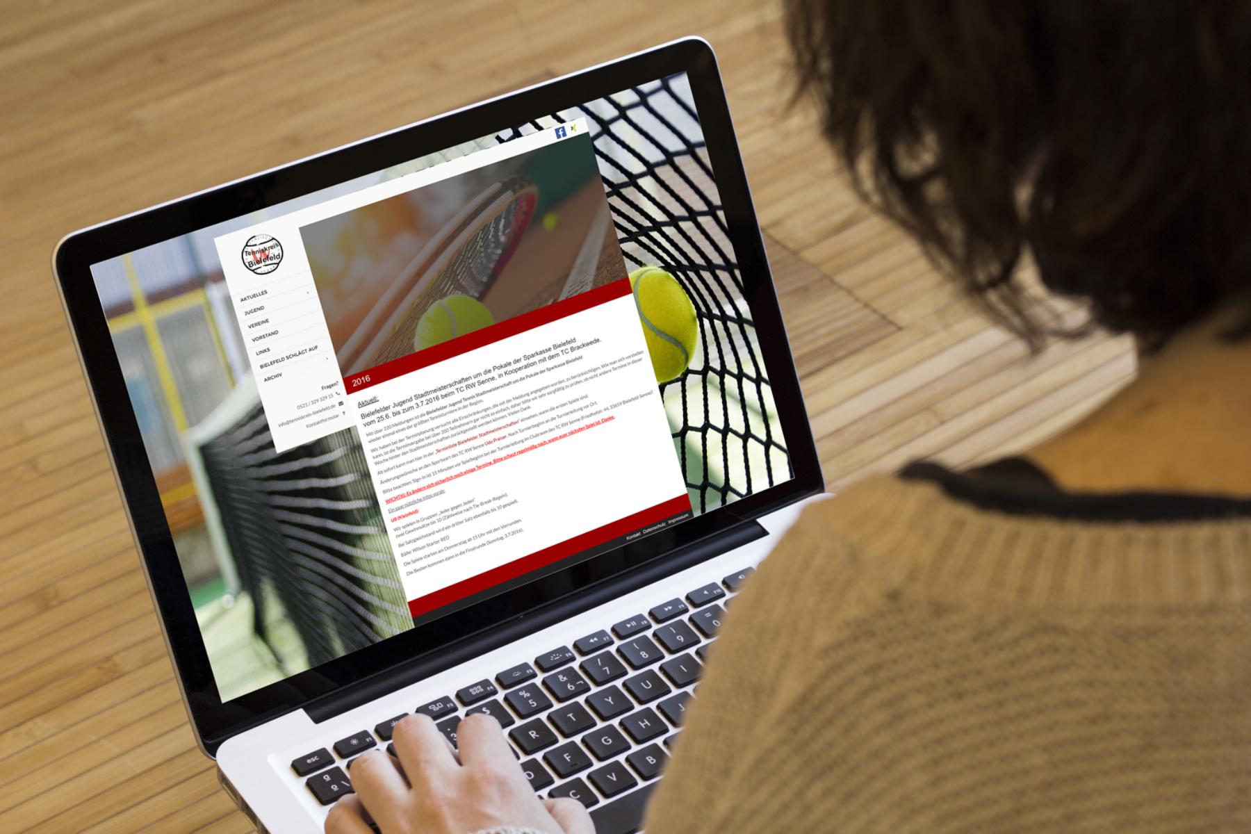 Tenniskreis Bielefeld e.V. - Webseite